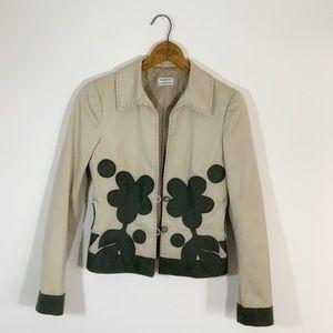 Alberta Ferretti Wool Floral Applique Jacket